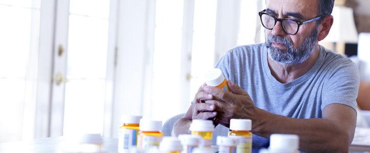 man with meds
