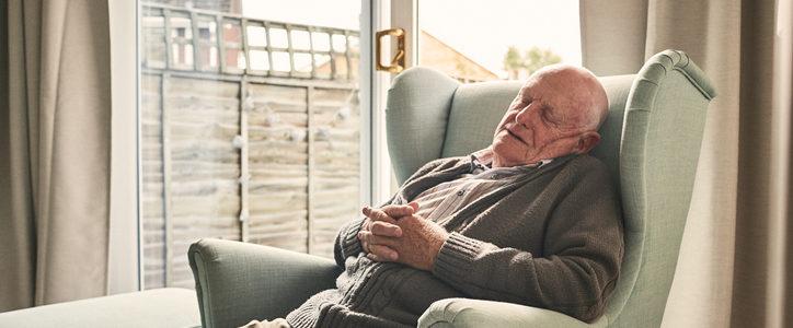 senior man sleeping