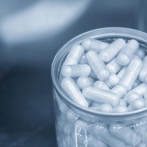 capsules in container