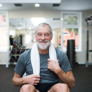 senior man at the gym